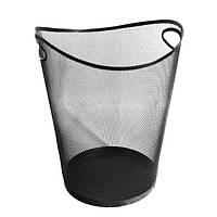 Корзина для мусора металлическая сетка черная фигурная О36331-01