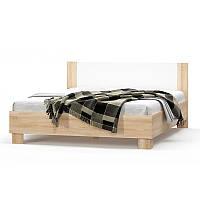 Кровать двухспальная 180 Маркос NEW (Мебель-Сервис)  2036х1864х852мм дуб санома