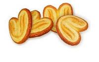Печенье весовое  слойка Ушки (Гроно) 1 кг (2,7 кг в ящ-140.40 гр)