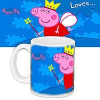 Кружка с принтом Свинка Пепа