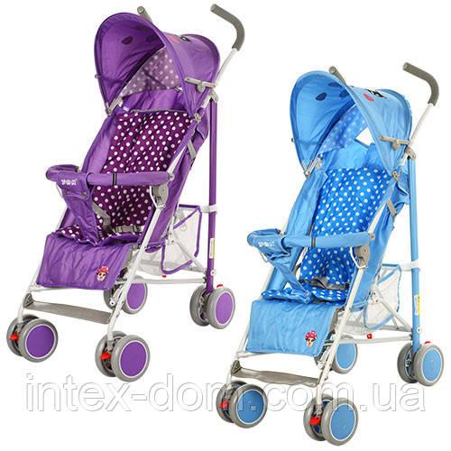 Детская коляска-трость  102-4-9V (Фиолетовая) с окошком