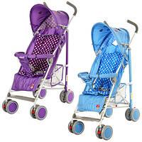 Детская коляска-трость  102-4-9B (Голубая) с окошком
