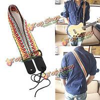 Классический стиль мягкого хлопка гитарный ремень для ремня электрического баса