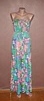 Стлиьное платье бандо в цветах №356