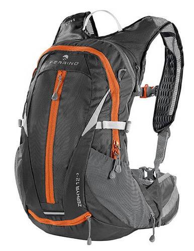 Легкий рюкзак для бега, езды на велосипеде Ferrino Zephyr 12+3 Black 922896 черный/оранж