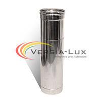 Труба-удлинитель с нержавеющей стали одностенная (0,8мм) L=0.5м Ø220