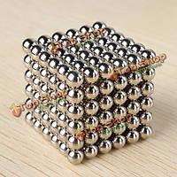 Неокуб серебристый 216 магнитных шариков 5 мм