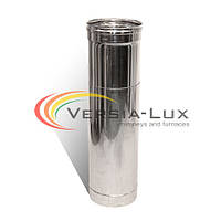 Труба-удлинитель с нержавеющей стали одностенная (1,0мм) L=0.5-1.0м Ø110