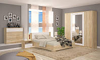 Маркос NEW набор мебели для спальни 4Д (Мебель-Сервис)  дуб санома