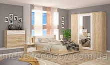 Набор мебели для спальни 4Д Маркос NEW (Мебель-Сервис)  дуб санома