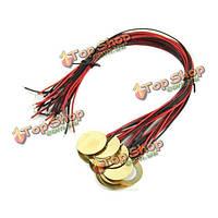 12шт piezos усилители с выводами для сигар бокс гитаре звукосниматели