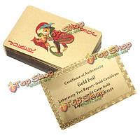 24к каратного сусального золото гальваническим игры в покер игральные карты подарочные коллекции +сертификат