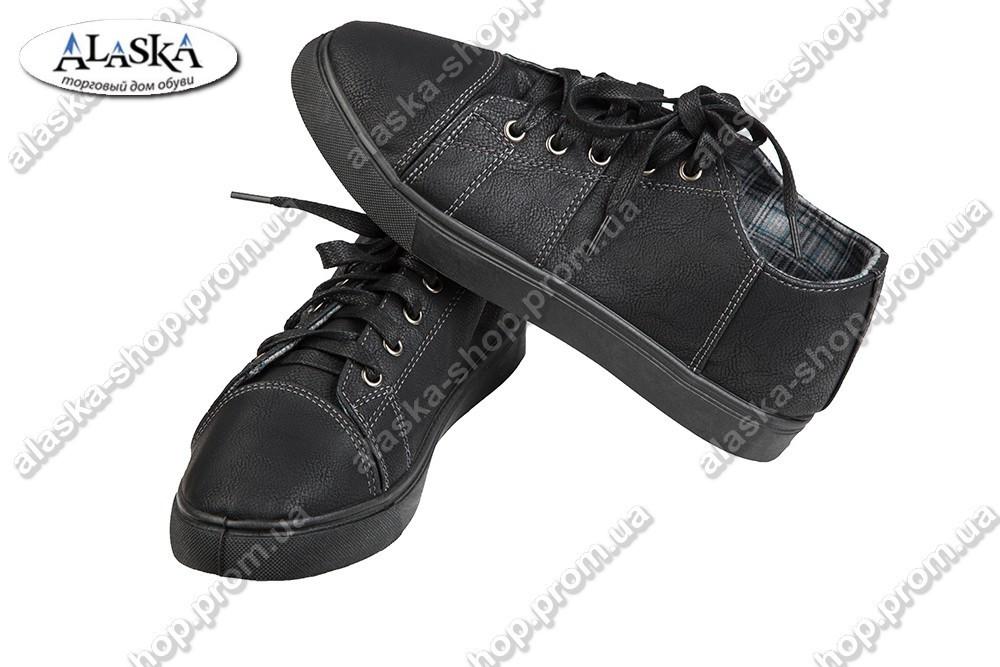Подростковые кеды черные (Код: VS-718)
