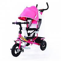 Велосипед детский трехколесный TILLY Combi Trike Pink с надувными колесами