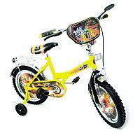 """Велосипед Хот Вилс 16  желтый с черным, система: """"One piece crank"""""""