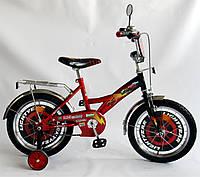 """Велосипед Тачки 18  черный с красным, система: """"One piece crank"""""""