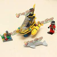 Просветите наблюдение дельфина подводная лодка pigboat блоки игрушки
