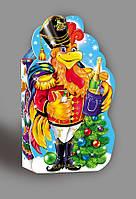 Упаковка праздничная новогодняя из картона Петух-гусар, 600г