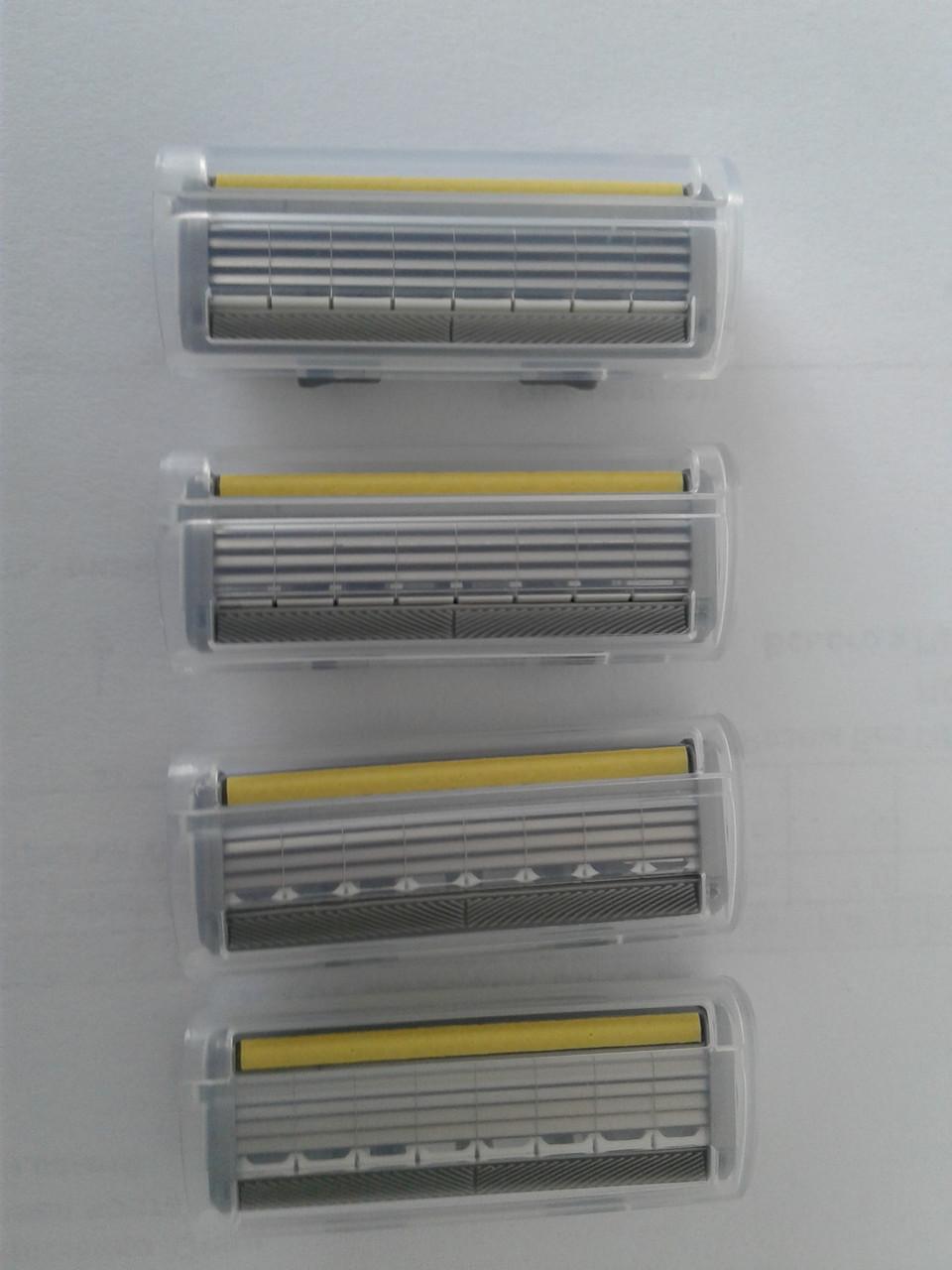"""Кассеты мужские для бритья Wilkinson (Schick) Quattro (4) titanium sensitive 4 шт. (Шик Титаниум) Оригинал - Интернет магазин """"БЕЗФАБУЛЫ"""" в Хмельницком"""