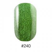 240 Лак для маникюра зеленого цвета с шиммерами