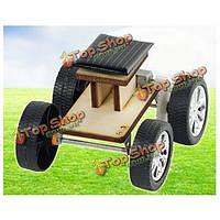 DIY солнечных деревянная игрушка автомобиль образовательных сборки модели для детей