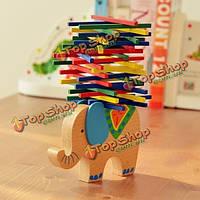 Слон верблюд бар блоков красочный баланс деревянные игрушки родител-ребенка игрушки