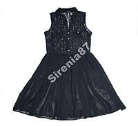 Стильное кружевное платье с шифоном №51
