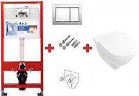 Инсталляция TECEbase kit 9400006 + подвесной унитаз 5660HR01 O.NOVO Direct Flush с крышкой