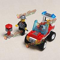 Просветите техническое обслуживание транспортного средства пожарно-спасательные блоки игрушки детям подарок