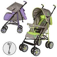 Детская коляска-трость BAMBI M 2108-3V (Серо-Фиолетовая) с корзинкой