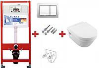 Инсталляция TECEbase kit 9400006 + подвесной унитаз 5684HR01 Omnia Architectura Directflush с крышкой