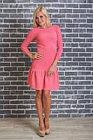 Платье женское персик
