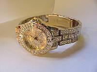 Часы женские золотые BS в камнях Swarovski,№1018
