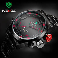 Часы мужские WEIDE Sport (LED) Black/Red