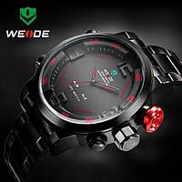 Часы мужские WEIDE Sport (LED) Black/Red