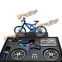 Имитационная модель велосипеда DIY сплава горный / дорога велосипед установить украшения подарок модель