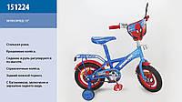 """Велосипед 2-х колес 12 """" 151224  со звонком, зеркаломми в колесах"""