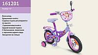 """Велосипед 2-х колес 12 """" 161201  со звонком, зеркаломми в колесах"""