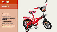 """Велосипед 2-х колес 12 """" 151220  со звонком, зеркаломми в колесах"""