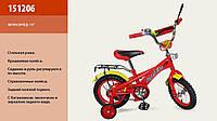 """Велосипед 2-х колес 12 """"  151206  со звонком, зеркаломми в колесах"""