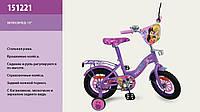 """Велосипед 2-х колес 12 """" 151221  со звонком, зеркаломми в колесах"""