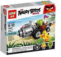 """19001 Конструктор Angry Birds Lepin """"Побег из машины свинок"""", 101 дет."""