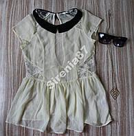 Стильная блузка с воротничком №138