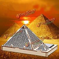 DIY 3D головоломки солнечная деревянные игрушки игрушки собрать пирамиду Хеопса