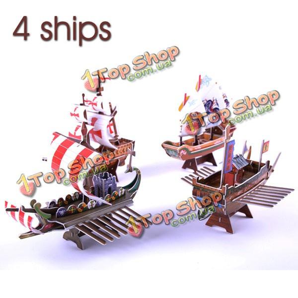 3D головоломки корабль Series Сделай сам модели кораблей 4 b368-16 - ➊TopShop ➠ Товары из Китая с бесплатной доставкой в Украину! в Киеве