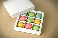 Коробка для конфет, макаронс, кейк-попсов, 125*125*28 мм., с ложементом