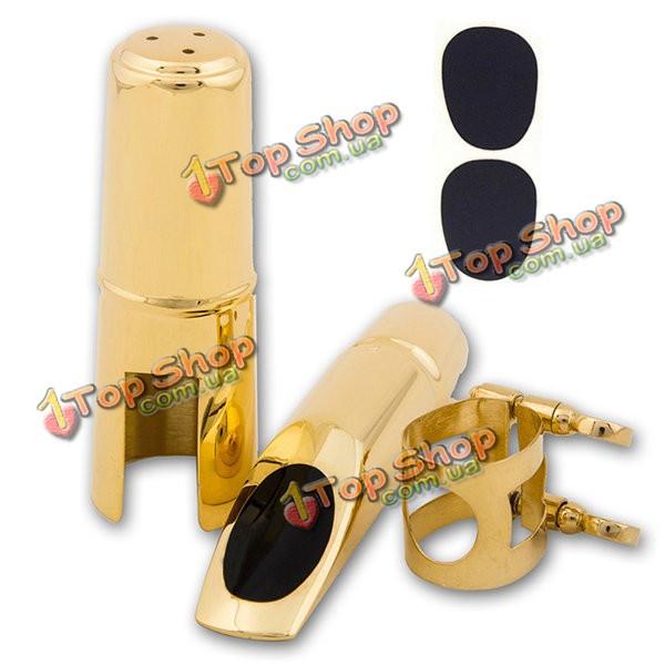 Тенор саксофон саксофон мундштук 5 6 7 8 металлическая с колпачком и лигатурой золотым покрытием - ➊TopShop ➠ Товары из Китая с бесплатной доставкой в Украину! в Киеве