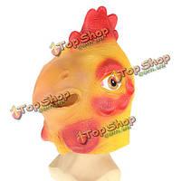 Петух голову маску жутких животных Хеллоуин костюм театр опора новинка