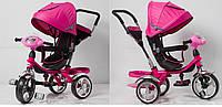 Велосипед 3-х колес TR16015 розовый складной козырек, колеса EVA 12'' и 10''