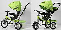 Велосипед 3-х колес TR16012 складной козырек, надувные колеса 12'' и 10''